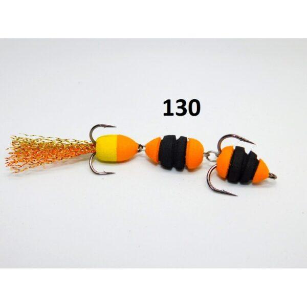 Mandula cu striatii model 130 3 segmenti 3 culori portocaliu/negru/galben