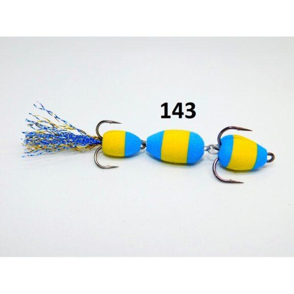 Mandula model 143 3 segmenti 2 culori galben/albastru