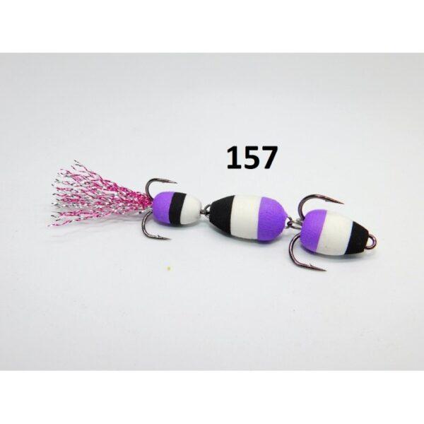 Mandula model 157 3 segmenti 3 culori negru/alb/mov
