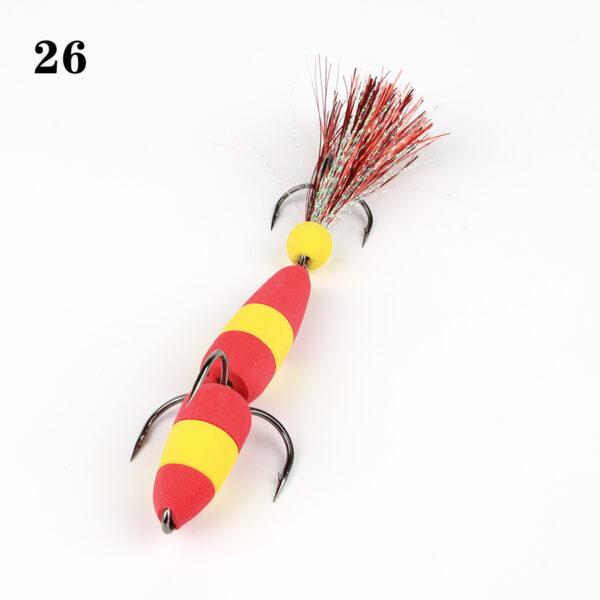 Mandula L 9cm, rosu/galben model 26