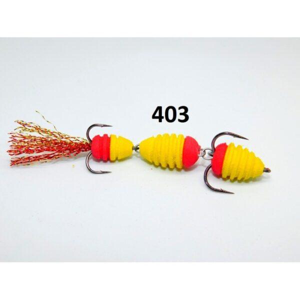 Mandula cu striatii model 403 3 segmenti 2 culori galben/rosu