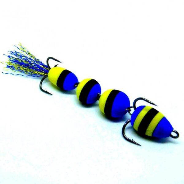 Mandula model 906 4 segmenti 3 culorialbastru negru galben