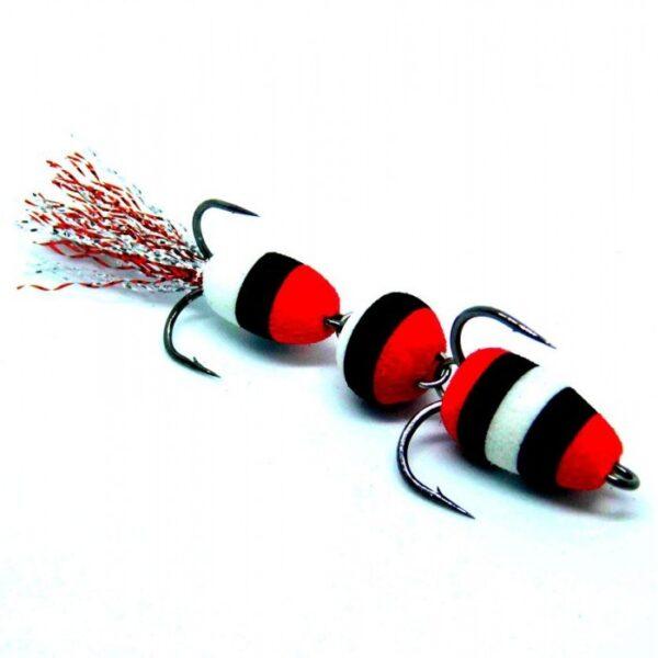 Mandula model 904 3 segmenti 3 culori rosu/alb/negru