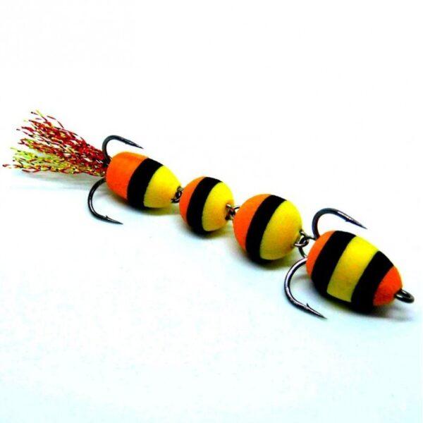 Mandula model 905 4 segmenti negru galben si portocaliu